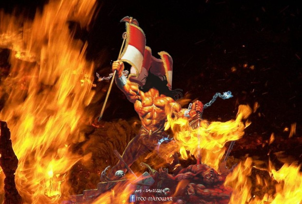 Wallpaper Indo ManOwaR - Freedom Fire