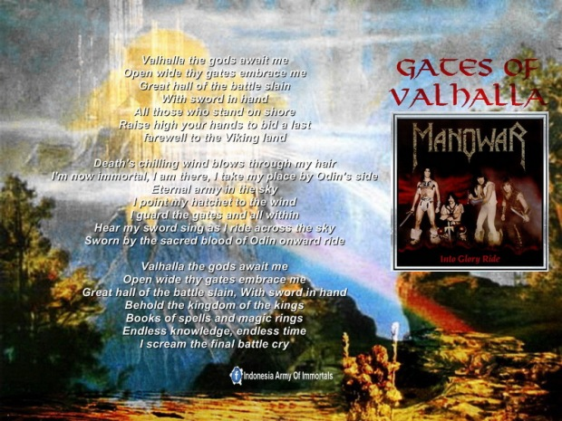 Wallpaper Into Glory ride - Gates of Valhalla